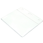 clear top plastic landscape id card wallet