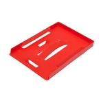 red multi id card holder