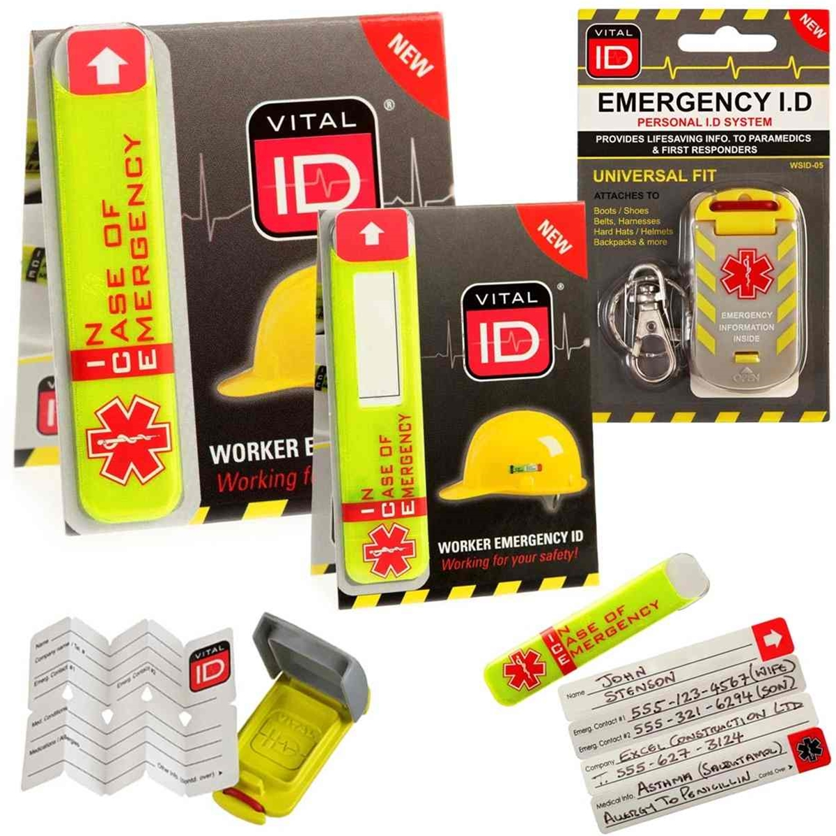 collection of vital id in case of emergency safety tags