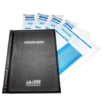book and badge visitor pass starter kit including paper passes and writing board