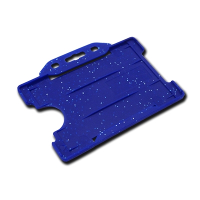 blue landscape single sided card holder for id cards that is metal detectable