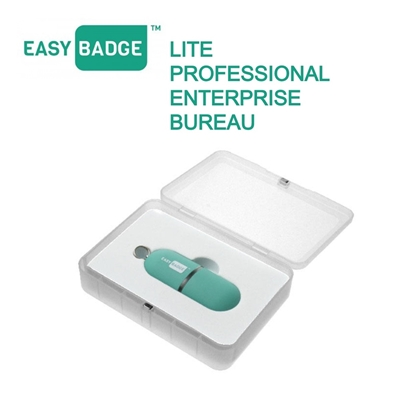 easybadge id printer software app being shown in use